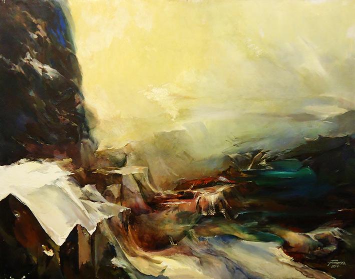Galina Tschesnokova Landschaft mit Felsen